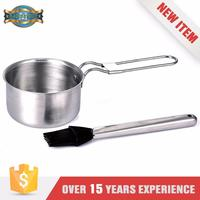 New Product Heat Resistance Two Handle Stainless Steel Saucepan