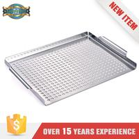 Deluxe Stainless Steel BBQ Grill Topper With Round Holes