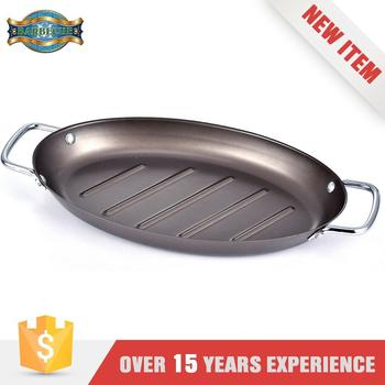 Oval Shape Brown Non-Stick BBQ Topper Bake Topper with 2 Wire Handle St.Mega Hot Sale Product